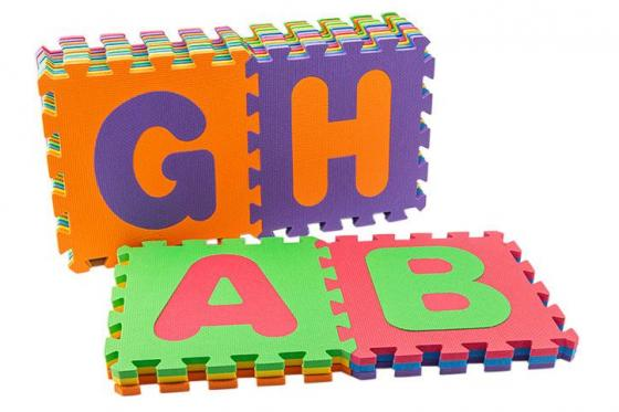 Tapis puzzle alphabet - de happytoys