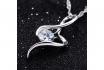 Silber Halskette - mit Zirkonia-Anhänger 2 [article_picture_small]