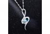 Silber Halskette - mit Zirkonia-Anhänger 3 [article_picture_small]