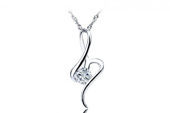 Silber Halskette - mit Zirkonia-Anhänger
