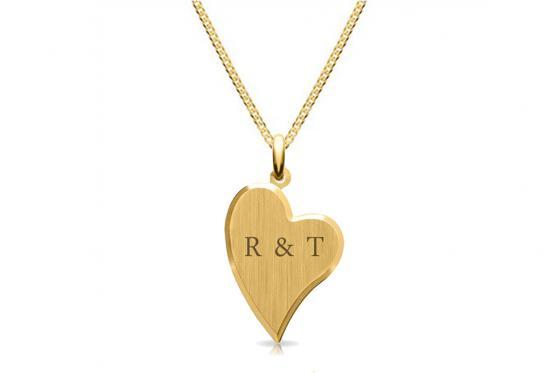 333er Gold Halskette - mit Gravur