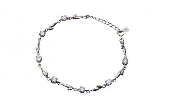 Silber Armband - mit Zirkonia Clear