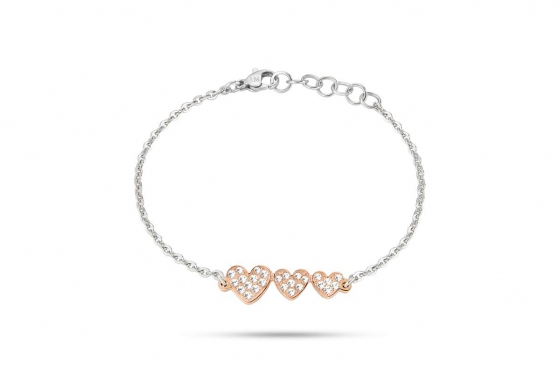 Roségold Armband - I Love - mit Kristallen