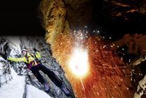Via ferrata de nuit - Gorge alpine avec fondue