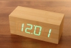 Wooden LED Wecker - The Cube Bambuu  [article_picture_small]
