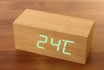 Wooden LED Wecker Cube - The Cube Bambuu 1 [article_picture_small]