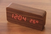 Wooden LED Wecker - Haoli braun  [article_picture_small]