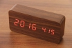Wooden LED Wecker - Haoli braun 1 [article_picture_small]