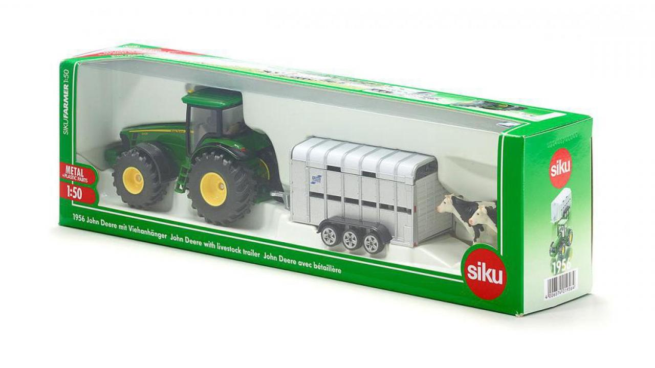 traktor mit viehanh nger. Black Bedroom Furniture Sets. Home Design Ideas