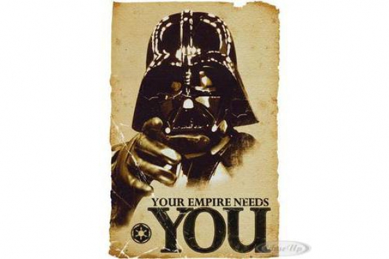 Poster star wars dark vador - Your Empire Needs You