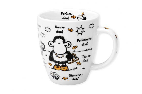 Tasse Ohne Mama ist alles doof - weiß, bedruckt, aus Porzellan 1