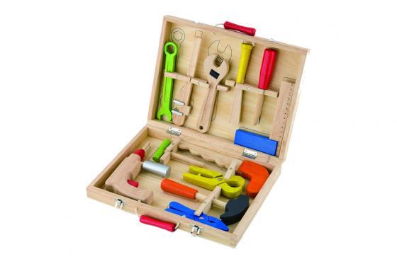 Werkzeugkoffer  - Holz - 12teilig