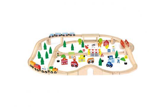 Holzeisenbahn-Set - 90 Teile