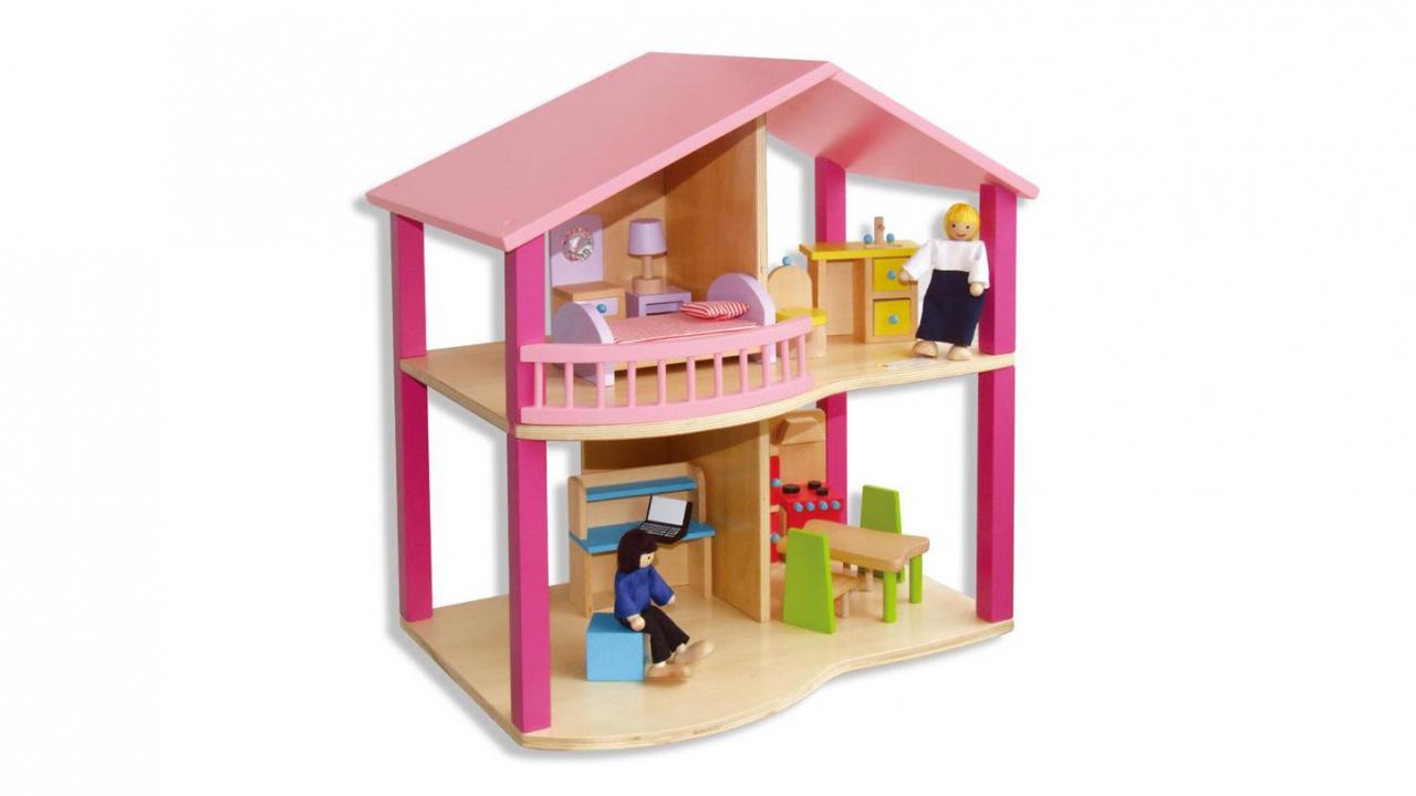 puppenhaus holz. Black Bedroom Furniture Sets. Home Design Ideas