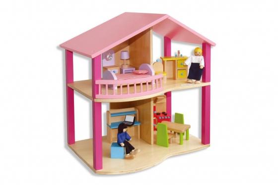 Maison poupée en bois - Meubles inclus