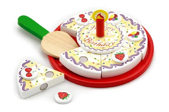 Gâteau d'anniversaire - bois