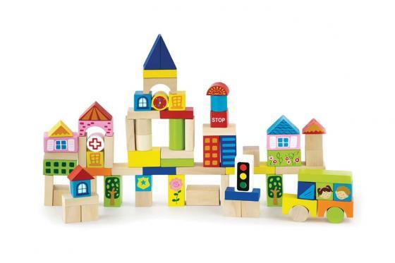 Ville en bloc de bois - 75 pièces