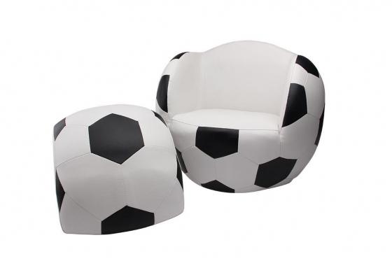 Fauteuil enfant - forme ballon de foot