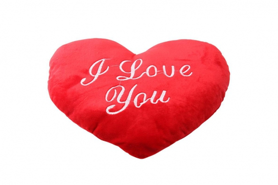Herz-Kissen - I Love You, gross
