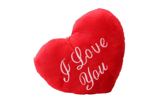 Herz-Kissen - I Love You, gross 2