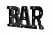 LED Schriftzug - BAR - schwarz 2 [article_picture_small]