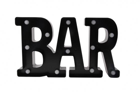 LED Schriftzug - BAR - schwarz 1
