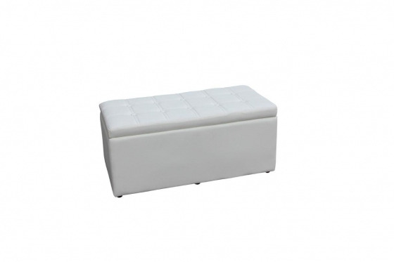Edle Sitzbox - mit Stauraum - Kunstlederbezug