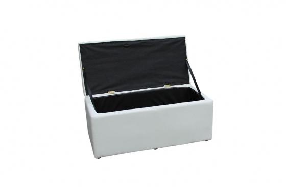Edle Sitzbox - mit Stauraum - Kunstlederbezug 1