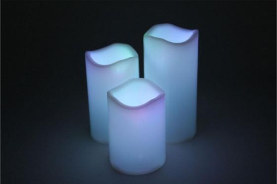LED Kerzenset - mit Fernbedienung