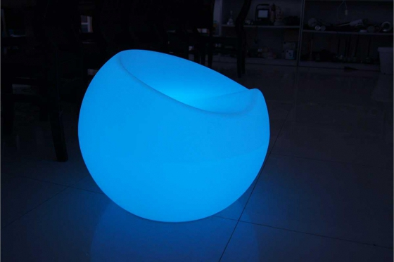 LED Apfel Stuhl - 56x56x42cm - Multicolor 1