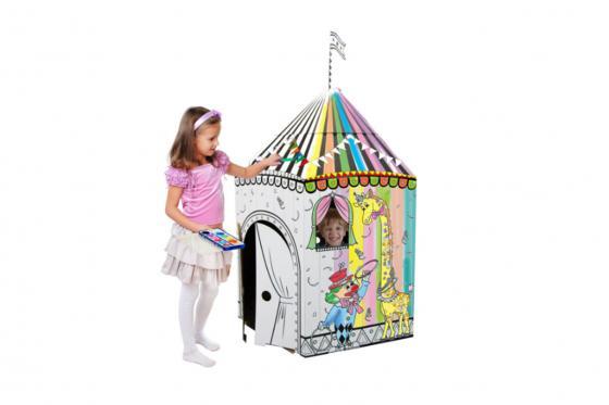 Zirkus aus Karton - zum selbstbemalen