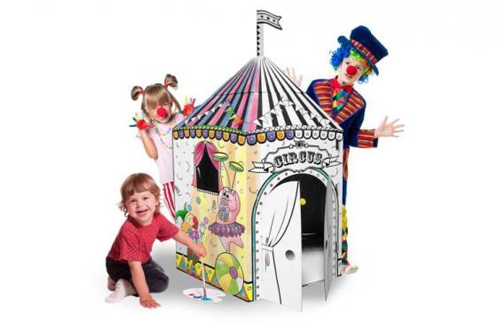Zirkus aus Karton - zum selbstbemalen 1