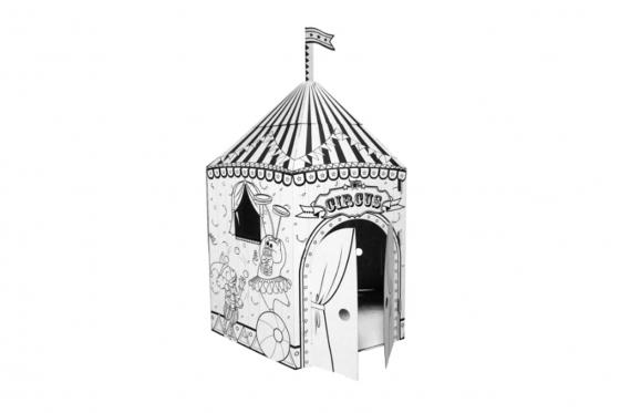 Zirkus aus Karton - zum selbstbemalen 2