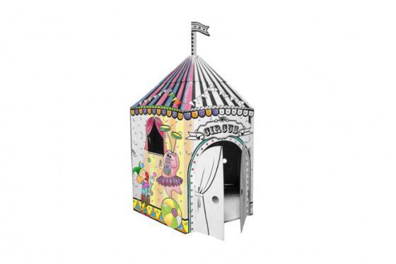Zirkus aus Karton - zum selbstbemalen 3