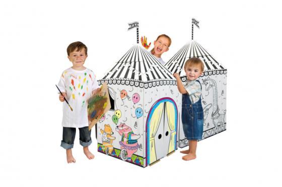 Zirkus aus Karton - zum selbstbemalen 4