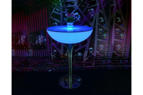 LED Tisch - 66x110cm - inkl. Glasplatte