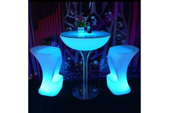 LED Tisch - 80x110cm - inkl. Glasplatte 1
