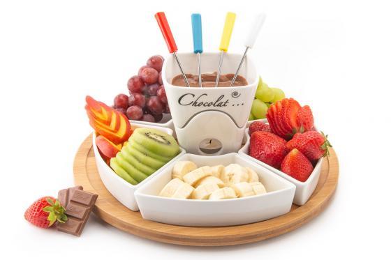Schokoladen-Fondue - mit Teelichthalter