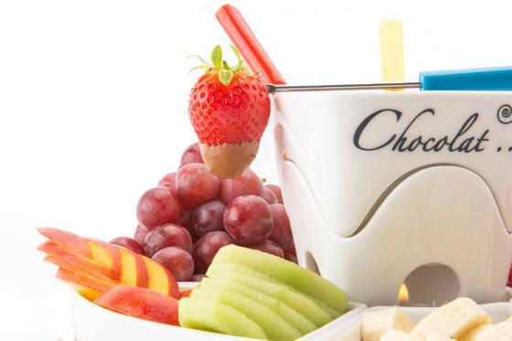 Schokoladen-Fondue - mit Teelichthalter 1