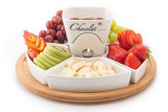 Schokoladen-Fondue - mit Teelichthalter 6