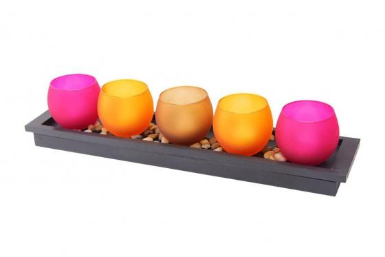 Bougies LED - avec un plateau décoratif