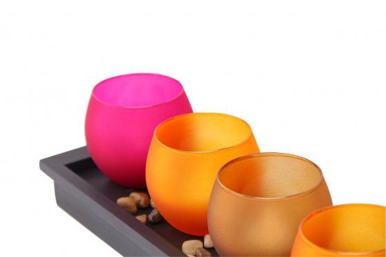 Bougies LED - avec un plateau décoratif 1