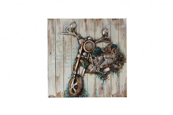 Holzbild Biker 3D - 92 x 92cm
