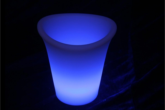 Seau à glace LED - 25 x 25 x 29 cm - Multicouleurs