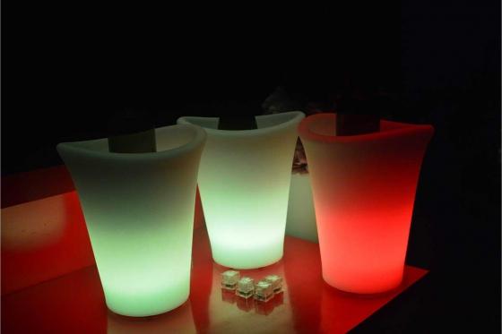 Seau à glace LED - 25 x 25 x 29 cm - Multicouleurs 1