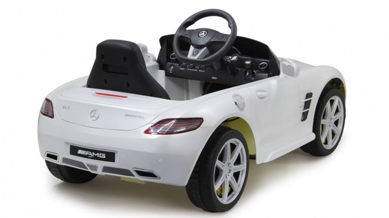 mercedes benz sls amg blanche voiture lectrique enfant. Black Bedroom Furniture Sets. Home Design Ideas
