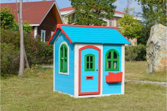 Holz Spielhaus Blue Lodge - von Happytoys 1