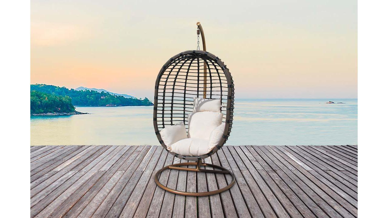 fauteuil oeuf suspendu en rotin. Black Bedroom Furniture Sets. Home Design Ideas