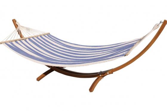 Premium Hängematte   - 240x160cm, blau/weiss