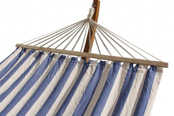 Premium Hängematte   - 240x160cm, blau/weiss 1